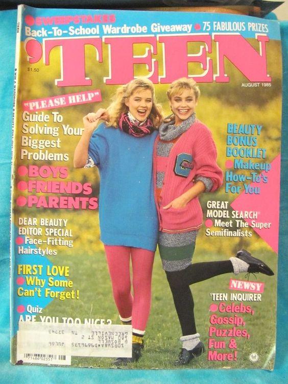 Favorite 'Teen Magazine Covers 1970-2000
