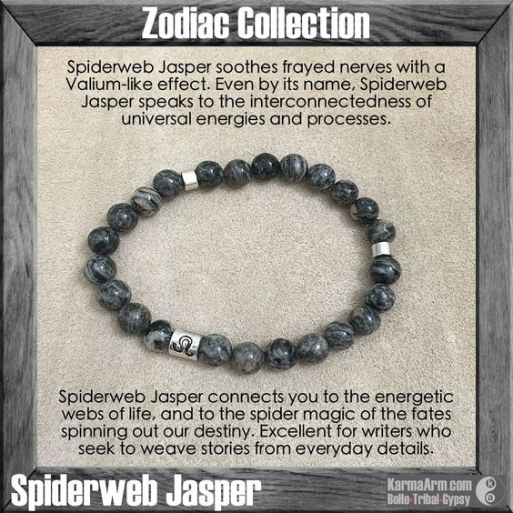 Trying to keep calm - but we're wild about these beautiful greyish green Spiderweb Jasper stones... MANTRA: I am at one with my best self and manifest all that is good. - 8mm Spiderweb Jasper Round Na