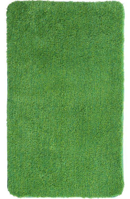 Der flauschige Badteppich Lex in grün hat eine Florhöhe von 32 mm und ist aus Polyacryl ultrasoft. Der Teppich ist waschbar bei 40°C und geeignet für Fußbodenheizung. Die Rückseite ist rutschhemmend beschichtet.