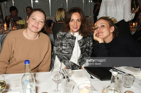 Sara Gilmour, Daniela Agnelli and Bay Garnett attend a candlelit dinner for VINCE. at Clifton Nurseries on November 11, 2015 in London, England.