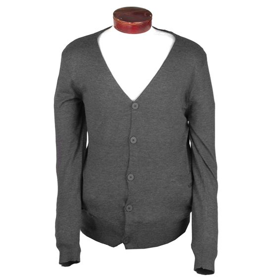 Gotta have a standard button up sweater.  Slate is great over bright colors and light neutrals. By Nixon Howard.