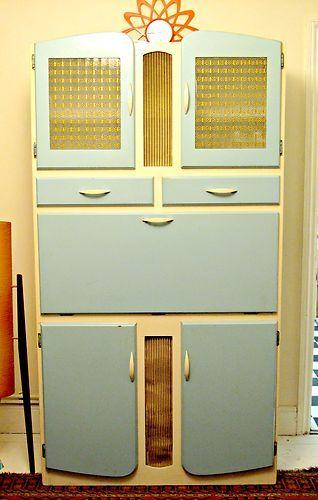 Retro Vintage Kitchen Cabinet Cupboard Unit Kitchenette Larder Pantry 50s 6