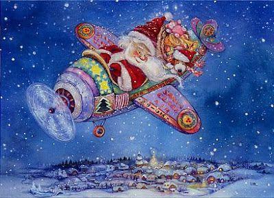 Vintage Victorian Imagens e Cartões Postais: Christmas Postcards Lise Martin