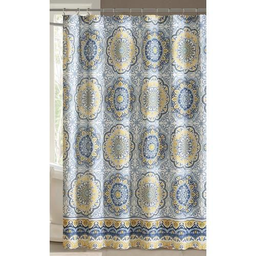 Madison Park Tangiers Blue Shower Curtain In 2020 Blue Shower