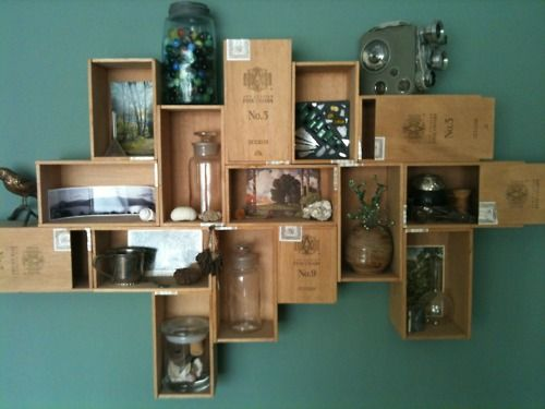 cigar box curio - never thought of this before.. #cigar #diy #cigarboxes