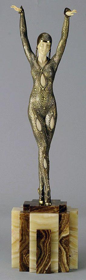 Demetre Chiparus - Art Déco - Sculpture 'Dourga':