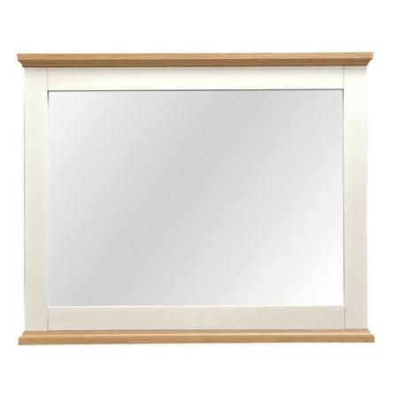penzance oak two tone wide wall mirror dunelm aston solid oak wall mirror