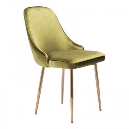 Chartreuse Green With A Sheen Velvet Dining Chair Gold Legs With