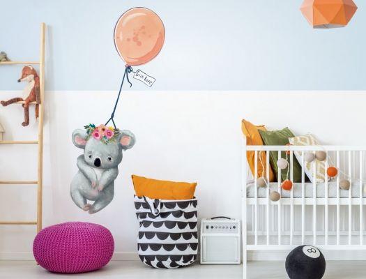 Wandtattoo Kinderzimmer Aquarell Koala Mit Luftballon I Love