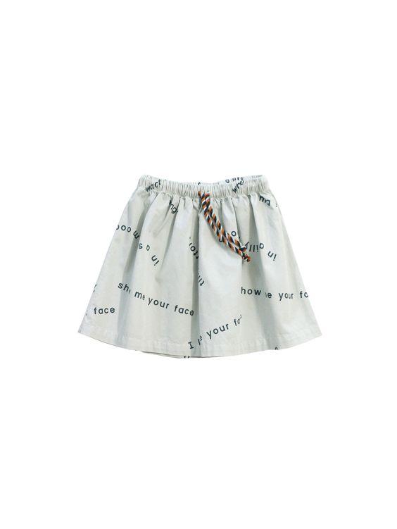 TINY COTTONS - Many Words Woven Skirt / Light Blue