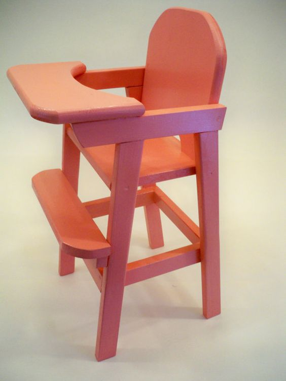 Wood doll high chair doll highchair wood doll highchair doll furniture baby doll high chair Wooden baby doll furniture