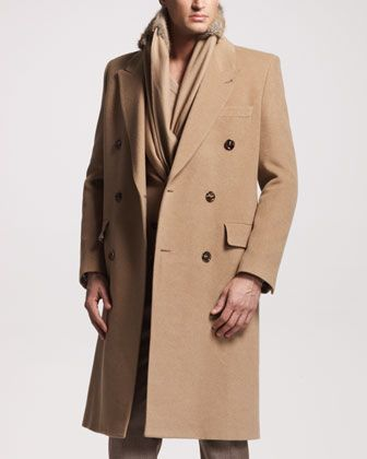 Men&39s Maison Martin Margiela Camel Hair Double-Breasted Coat | Now