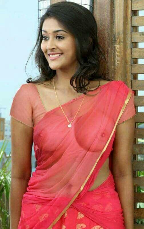 Boobs girl indian saree will last drop