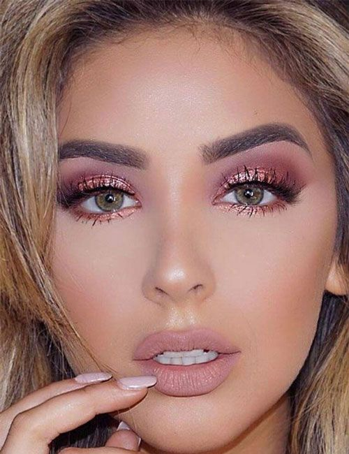 45 Best Prom Makeup Looks Formal Ideas For Prom 2020 Styles In 2020 Rose Gold Eye Makeup Prom Makeup Looks Gold Eye Makeup