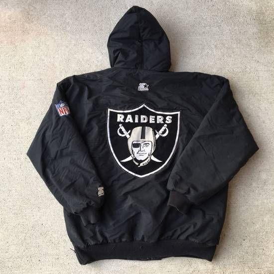 Nfl Starter Vintage Vintage 90s Raiders Starter Jacket Jersey Hat Shirt Size L 85 Jackets Jersey Hat Shirts