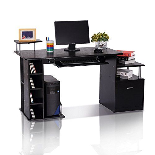 Computer Desk With Drawers Black