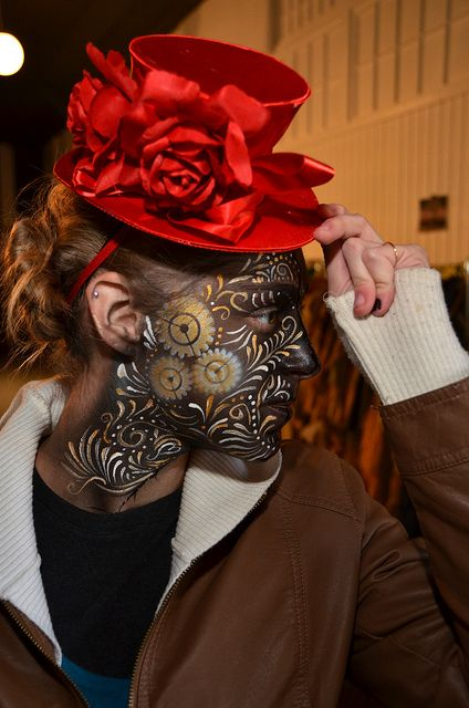 Steampunk Faces And Face Paintings On Pinterest