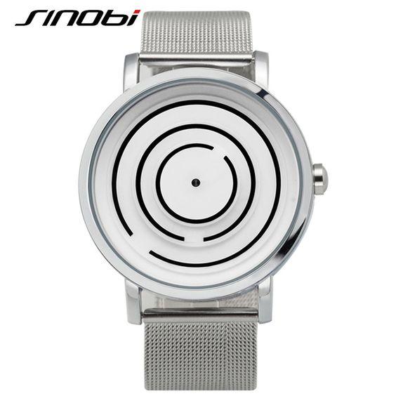 SINOBI Top Mode Luxe Horloge Mannen Merk Rvs Mesh Band Relojes Hombre 2016…