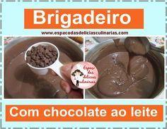 Brigadeiro com chocolate ao leite, vídeo de recheio de bolo de brigadeiro