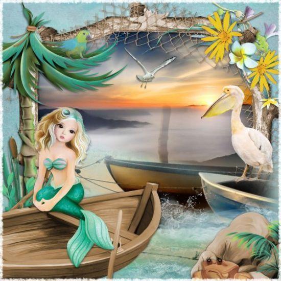 Farniente with the mermaids by Pat's Scrap - CLiquez sur l'image pour la fermer