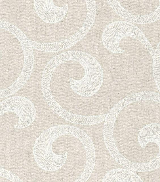 Upholstery Fabric-  Williamsburg Hampton Scroll AlabasterUpholstery Fabric-  Williamsburg Hampton Scroll Alabaster,