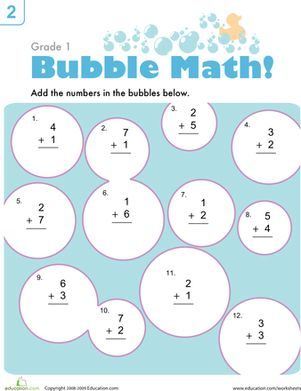 Bubble Math | Pinterest | Math, Math worksheets and Addition ...