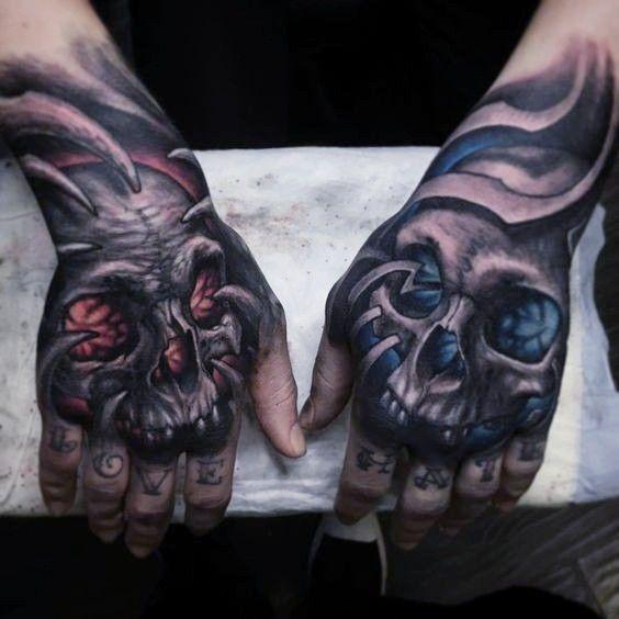 Pin By Josh Satoski On Zapisane Przeze Mnie In 2020 Skull Hand Tattoo Tattoos Hand Tattoos For Guys