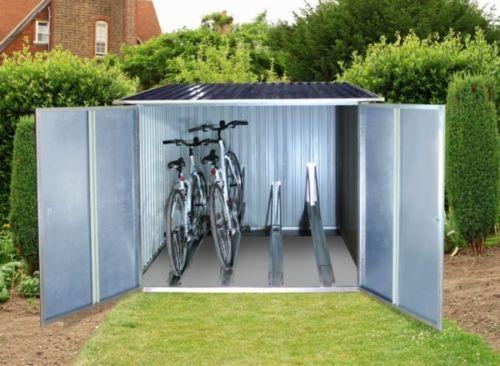 Tepro Fahrradbox Fur Bis Zu 4 Fahrrader Fahrradgarage Universalbox Metallbox Fahrradbox Fahrradgarage Schuppen Ideen