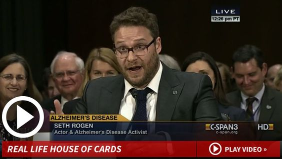 Seth Rogen went to Capitol Hill to voice his support for legislation to increase funding for Alzheimer's research.