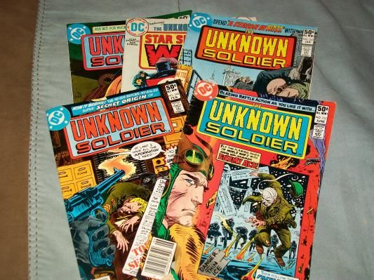Unknown Solider comics #252,248,247,258 vol 30, #177 vol 23