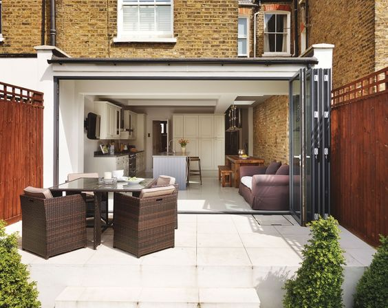 Flat roof extension: