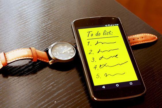 Smartphone, Per Fare La Lista, Fare, Orologio, Elenco: