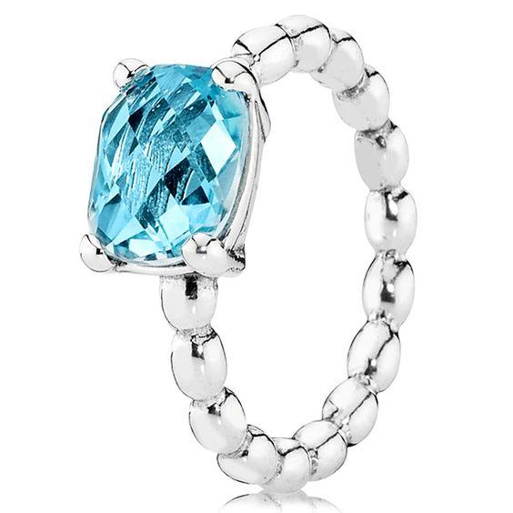 Pandora Blue Topaz Charm