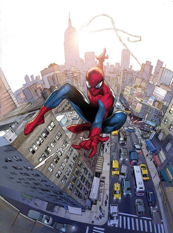 Dibujo de Olivier Coipel para la portada alternativa de Amazing Spider-Man #700