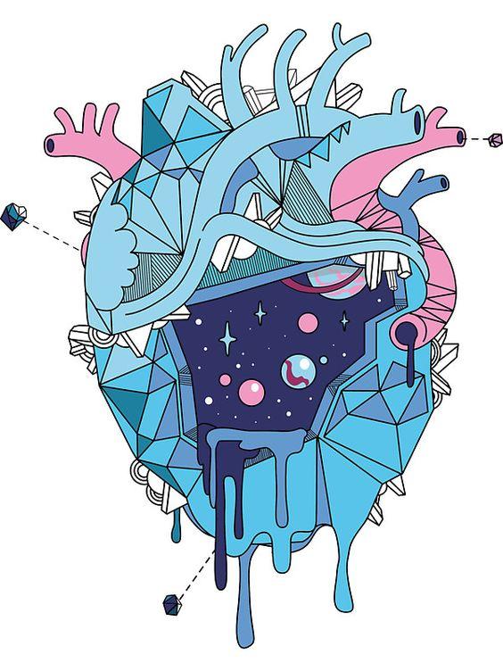 Frozen Alien Heart by Paola Vecchi