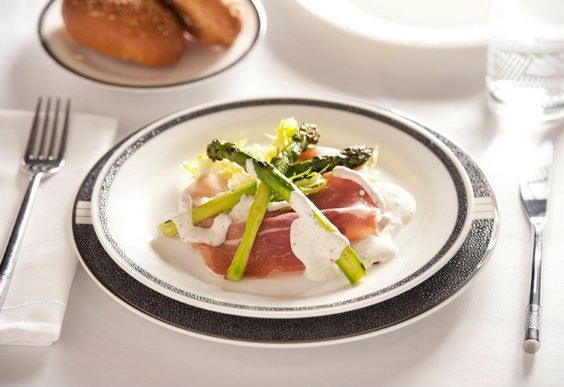 The Sky -- SQ Fine Dining, San Daniel ham with grilled large asparagus ...