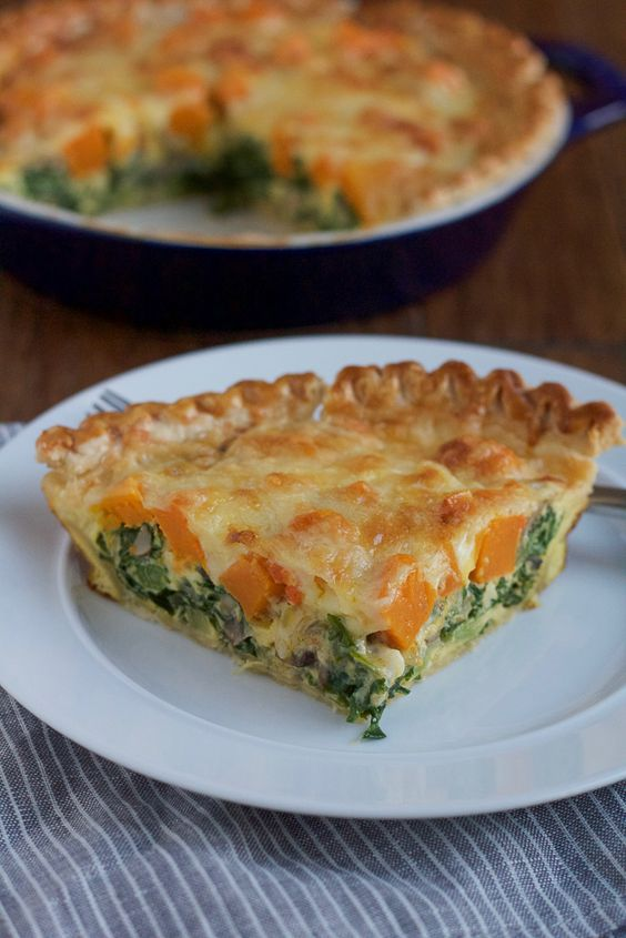 Butternut Squash and Kale Quiche | Recipe | Seasons, Kale and Healthy