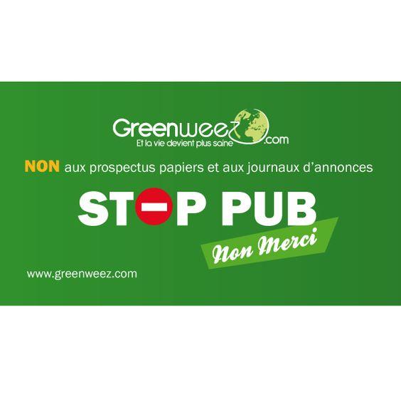 Autocollant Stop Pub. En avez-vous vu ailleurs ?