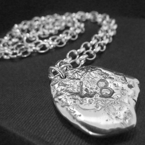 LWSilver - Belcher Chain with Nugget, Male Chain Wirral, Male Silver Belcher Chain. #mensjewellery #silver #handmade #lwsilver
