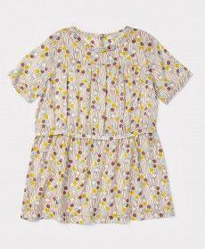 Rosemary Dress, Mink Dotty, 3y