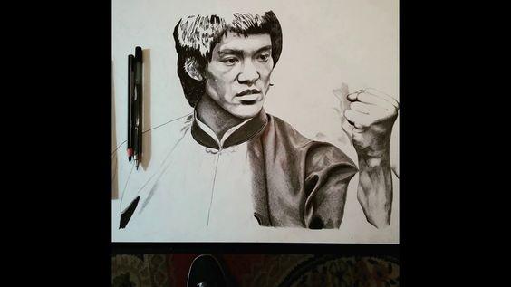 Bruce Lee -Drawing - Desenho - canal Delsenho