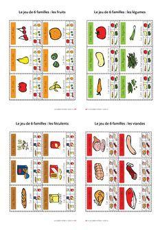 Un jeu de 6 familles pour découvrir les 6 familles d'aliments.