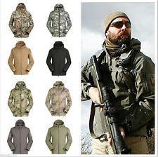 Softshell Hombre Militar Exterior Impermeable Chaqueta Con Capucha Militar