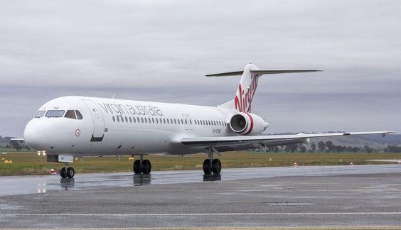 Os Fokker 100 da Virgin Australia Regional Airlines também continuam em operação (Bidgee)