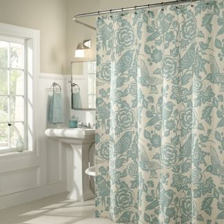 Java Leaf Shower Curtain   Blue bath, Love this and Birds of a feather