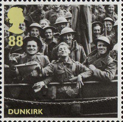Britain Alone 88p Stamp (2010) Dunkirk - Rescued British Soldiers