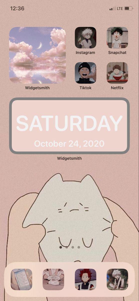 Widget Phone Screen Vibe Wallpaper Iphone Love Homescreen Phone Screen Cute home screen anime wallpaper