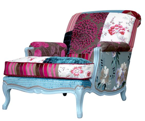 fauteuil et berg re en patchwork fleuri pompadour. Black Bedroom Furniture Sets. Home Design Ideas