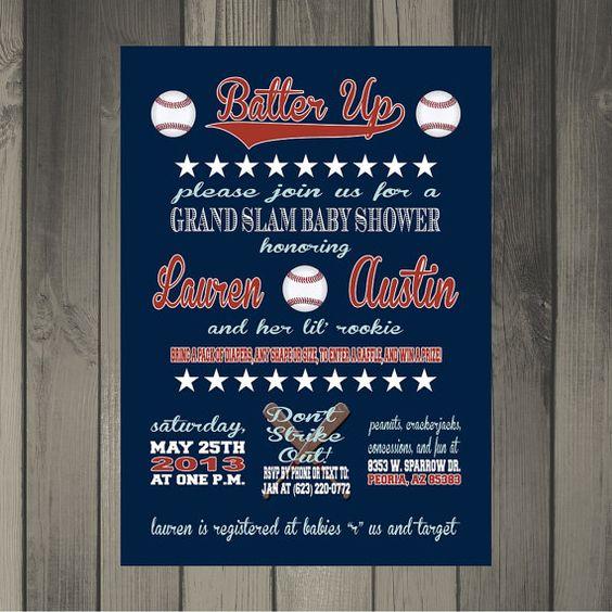 baseball themed invitations