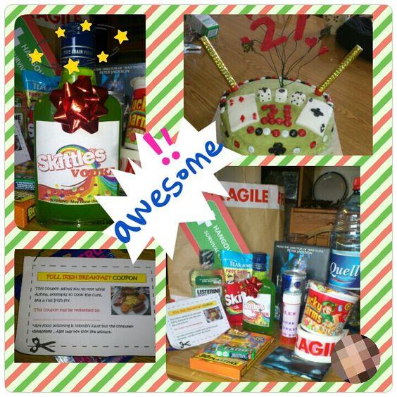 Hangover Survival Kit, 21st Birthday #birthday #present